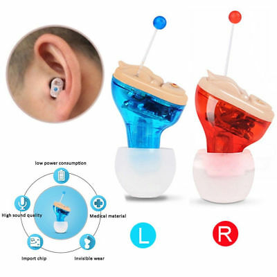 MiNi Digital Invisible Hearing Aid CIC Small Sound Voice Amplifier Enhancer hear