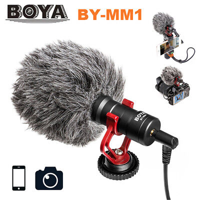 Boya BY-MM1 Video Mic Condenser Microphone 3.5mm for Nikon Canon DSLR Camcorder