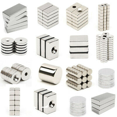 N52 Block Super Strong Round Cylinder Discs Magnet Neodymium Treasure Hunting