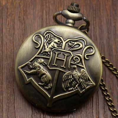 Harry Potter Beautiful Bronze Pocket Watch with chain - FREE GIFT INCLUDED