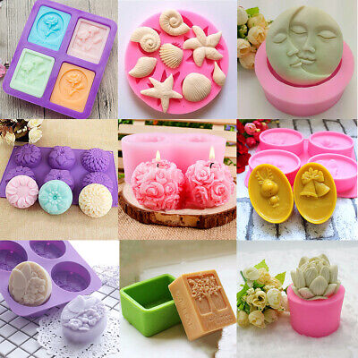 Silicone Moon Christmas Soap Fondant Cake Mold Candy Candle Chocolate Mould Tool