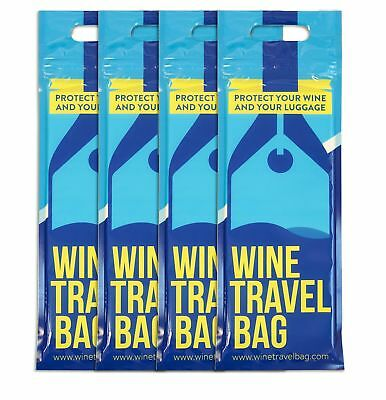 Wine Travel Bag Pack of 4 - Wine Bottle Protector for Travelling in Suitcase