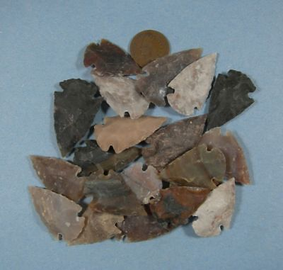 Arrowhead Spearhead Lot Collection & Old Vintage 1887 Indianhead Cent
