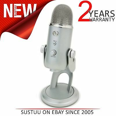 Blue Microphones Yeti USB Recording Multi Pattern Microphone Silver Edition