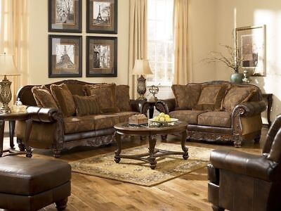 "ASHLEY ""Fresco"" Traditional Living Room Sofa & Love Seat - FREE In-Home Delivery"