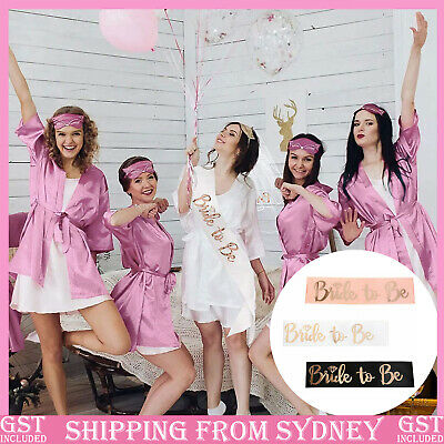 Rose Gold Team Bride Hens Party Sash Sashes Girls Do Night Bachelorette Letter A