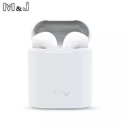 Wireless Bluetooth Earphones Headphone Earbuds For Apple iPhone w Charging Box