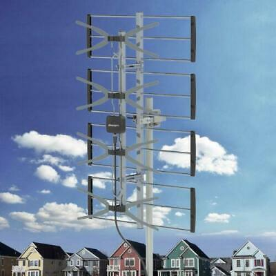 100Mile HDTV 1080P Outdoor Amplified TV Antenna UHF for Digital Signals 4 Grids