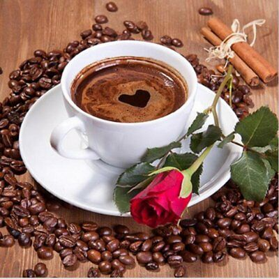 J8928 Coffee Diamond Painting 5D DIY Embroidery Rhinestone Cross Stitch Craft UK