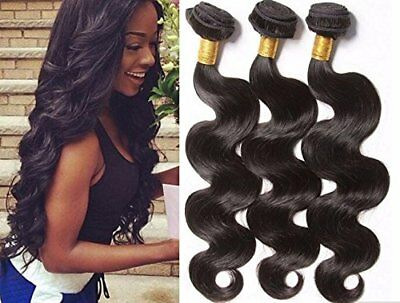 A2ZWIG 9A Unprocessed Brazilian Virgin Body Wave Remy Human Hair Extensions