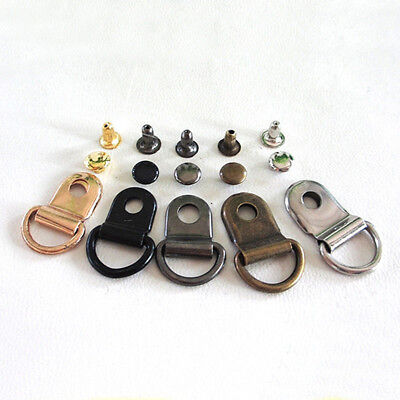 2/10/50/100pc  Metal Rivet D Ring Lace Boot Shoes Repair Tool Leather Buckle Top