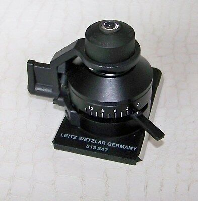 Leitz Wetzlar Microscope Condenser with swing out head AS 0.90. - 513547.