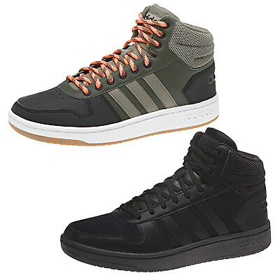 pretty nice 7207a e1275 Adidas HOOPS 2.0 MID in Pelle col. Verde e Nero sneakers retro basket alta  New