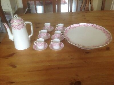 royal worcester coffee set With Cake Stand