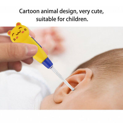 Cartoon Animal Decorated Earpick LED Flashlight Ear Wax Remove EarPick I1