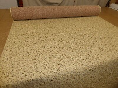 Job Lot  10m rolls of SANDY BEIGE - Traditional Style Chenille Upholstery Fabric