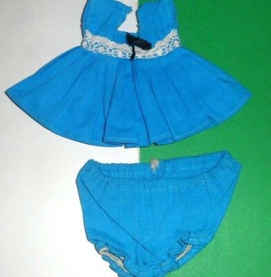 VINTAGE VOGUE GINNY DOLL CLOTHES outfit KINDER CROWD #6024 1950's BLUE DRESS