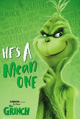 GRINCH MOVIE CHRISTMAS 34334 MEAN ONE POSTER 24x36