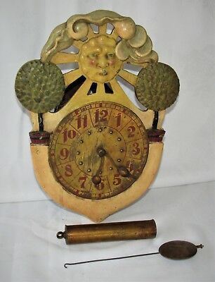 An Extremely Unusual German Antique Wall Clock