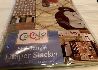 New Cocalo Baby Nali Jungle Diaper Stacker JUNGLE SAFARI Multi-Color Nursery