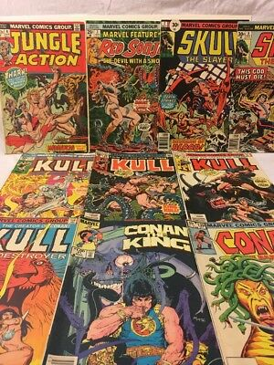 Bronze Age Marvel Comics Lot Of 10 Adventure Comics, Conan,Kull, Red Sonja,Fine+
