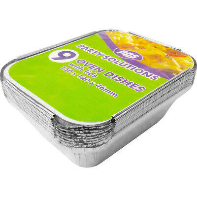 Food Containers with Lids x9 Silver Bakeware