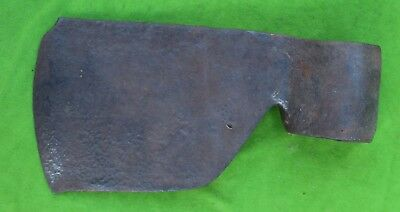 Antique French? Axe Head  Round Socket Hand Forged 4 Lbs 6 Oz