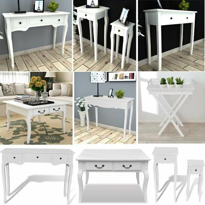 Modern White Console Dressing Table Hallway Drawer Shabby Chic Home Furniture UK