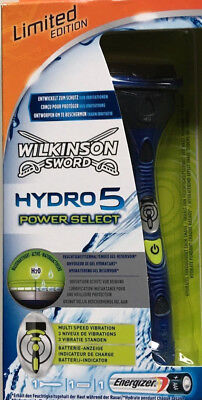 Wilkinson Sword HYDRO 5 POWER SELECT 1 Rasierer 1 Klinge 1 Batterie LED NEU