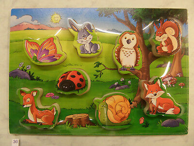 """Holzpuzzle """"Tiere im Wald"""" (36)"""