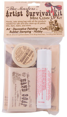 The Masters Artist Survival Mini Clean Up Kit Brush Cleaner Soap Kiss Off