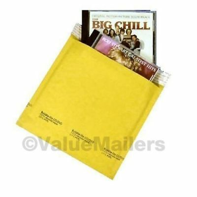 #CD 7.25 x 8 Kraft Bubble Lite Mailers CD DVD Padded Envelopes Bags 250 to 2500