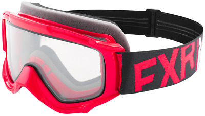 FXR YOUTH Childs Kids THROTTLE GOGGLES - Red  / Black  / White - Brand New
