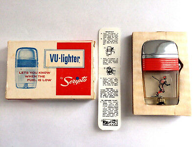 Scripto VU Vintage Baseball Player With Red Band & Original Box Looks Unfired