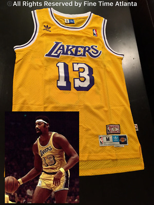NEW Wilt Chamberlain Los Angeles Lakers Men s YELLOW HOME Retro Jersey  Kareem 4080839dd