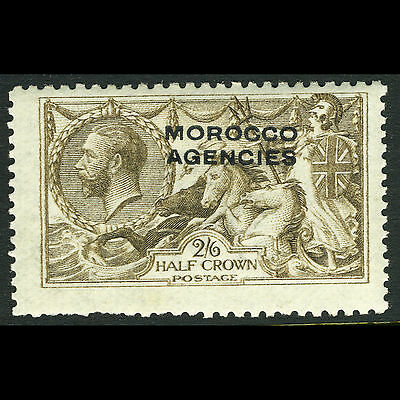 MOROCCO AGENCIES. 1914-31 2s6d Yellow Brown. SG 51. Trimmed Perfs. MLH. (CA72J)