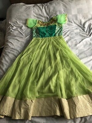 Indian Asian Green Turquoise Gold Dress Suit Gown
