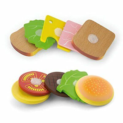 Viga Wooden hamburger e sandwich set (5J3)