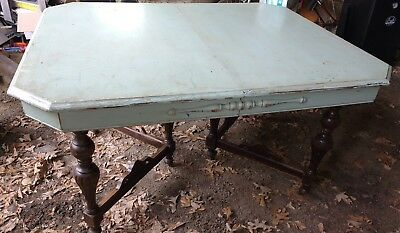 """Antique Dining Room Table 4 Inserts 53"""" to 90"""" French ? Dark Wood Fixer Upper"""