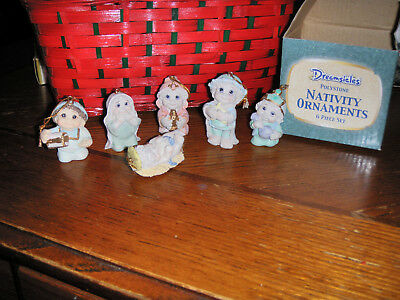Dreamsicles Polystone Nativity Ornaments 6 Pc Set Giftco Brand New