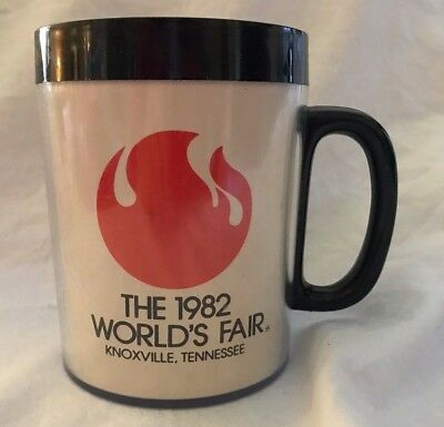 1982 WORLDS FAIR * KNOXVILLE, TN * INSULATED COFFEE MUG * Vintage