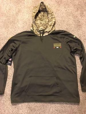0e666fedd Nike Women s Cleveland Browns Therma Salute to Service Hoodie 2XL Team  Apparel