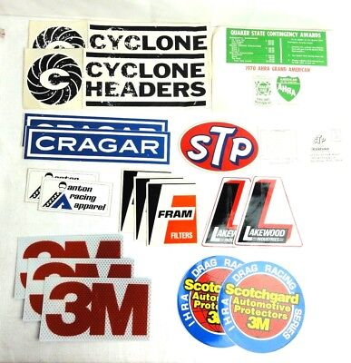 Vintage Lot of 17 Racing Motor Sports Stickers Decals Advertisements Lot 2