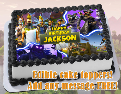 Fortnite Edible Birthday Cake Topper Personalized Item Premium Frosting Sheet