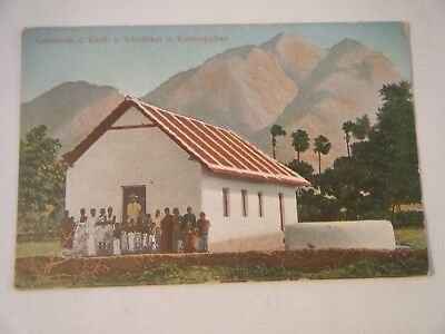 Vintage Postcard - Africa - Country School House