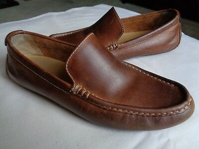 7d333ef6c18 Cole Haan Somerset Venetian C11401 Men s Brown Leather Driving Mocs Loafers  8.5M