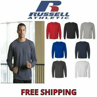 Russell Athletic Men's Long Sleeve Performance Blend Tee Athletic T-Shirt S-3XL