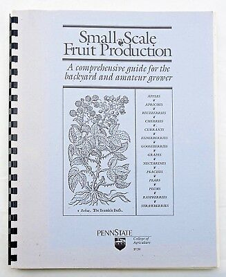 """""""Small Scale Fruit Production"""" Spiral-Bound Paperback Backyard Gardening 1991"""