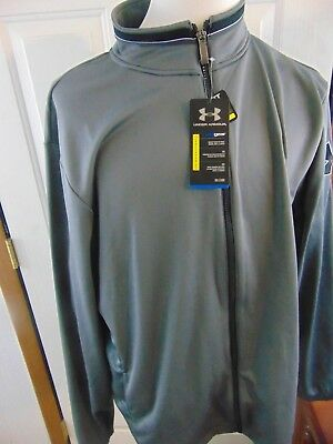 New With Tags Under Armour Coldgear UA Basketball  XL Gray Black Loose Fit New