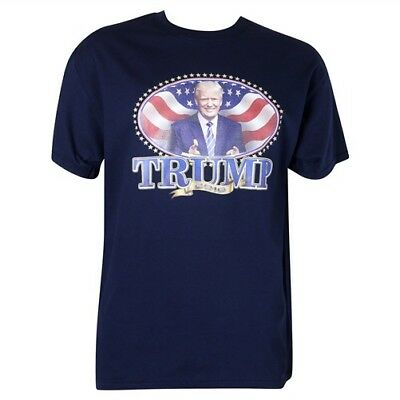 Unisex Trump For President 2016, Blue With Image 100% Preshrunk Cotton Sz S
